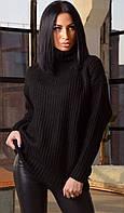 Объемный теплый женский свитер  ЛЧ 015В/04