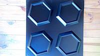 """Пластиковая форма для 3d панелей """"Стоун №3"""" 24*24 x4 под мох (форма для 3д панелей из абс пластика)"""