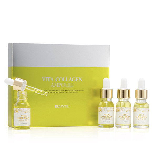 Набор антивозрастных ампульных сывороток с витаминами и коллагеном Eunyul Vita Collagen Ampoule Set 4×12 мл