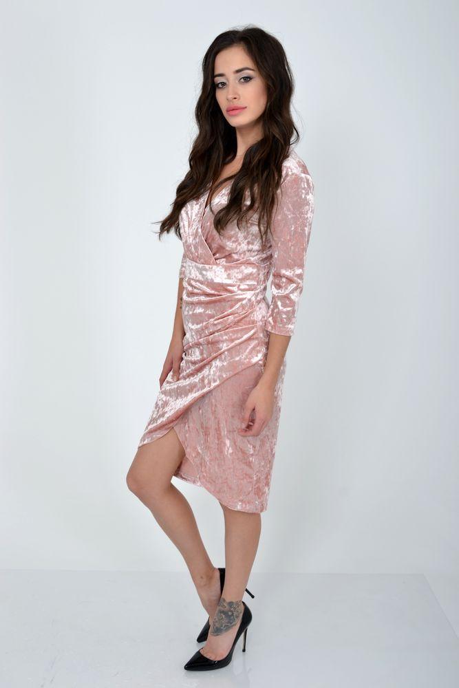 Платье женское цвет Пудровый размер 40