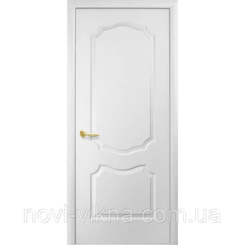 """Межкомнатная дверь """"Симпли"""" Вензель глухая под покраску 900 мм."""