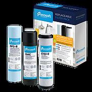 Комплект картриджей Ecosoft 1-2-3 для фильтра обратного осмоса (улучшенный)