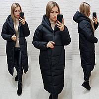 Женская зимняя куртка черная, арт М500