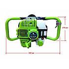 Мотобур Craft-tec PRO EA-200 (у комплекті 1 шнек 100мм і 1 шнек 200мм + подовжувач 500мм). Бензобур Крафт-Тек, фото 5