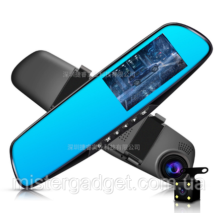 Зеркало регистратор с камерой заднего вида DVR L9000, фото 2