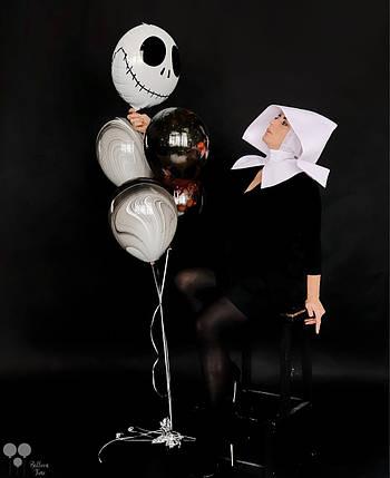 Фольгированный шар страшилка, агаты и шары с краской, фото 2