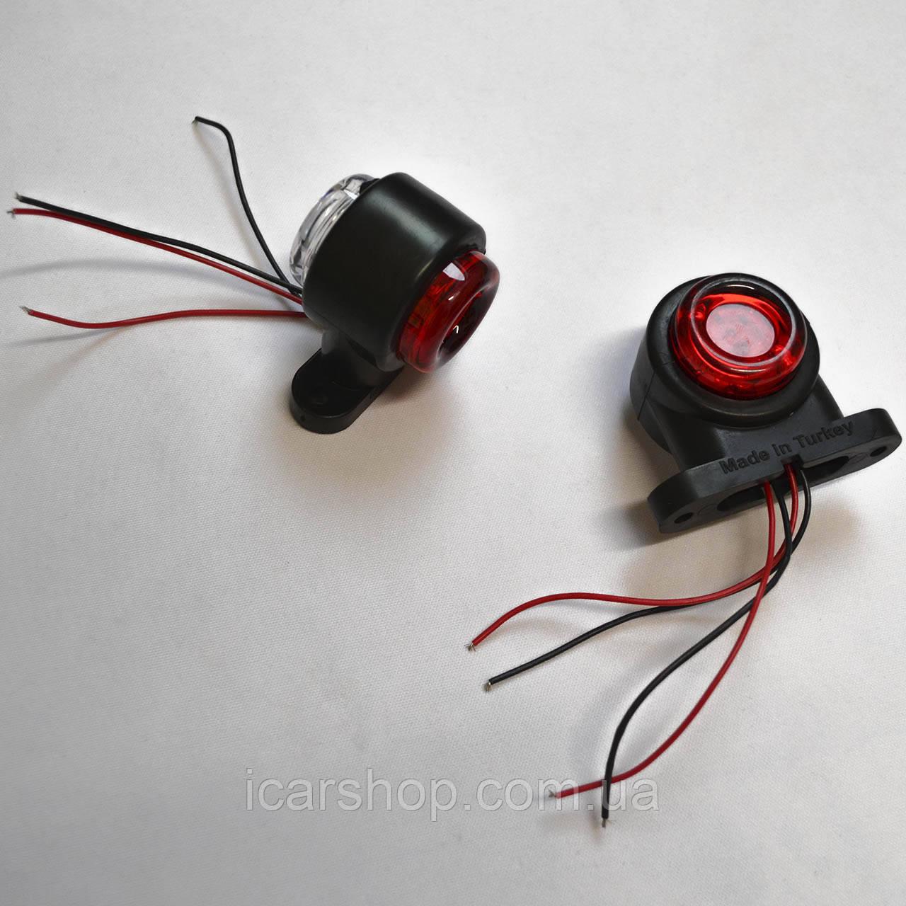 Ліхтар габаритний ріг LED прямой 3 см міні STAR