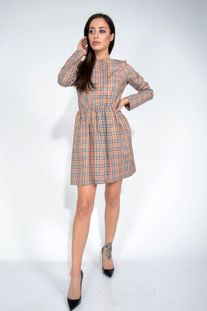 Платье цвет Бежевый размер M-L