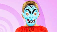 Маска Зомби / пластик тонкий на  Хэллоуин