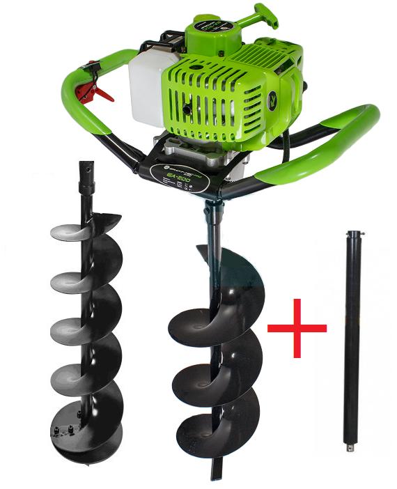 Мотобур Craft-tec PRO EA-200 (у комплекті 1 шнек 100мм і 1 шнек 200мм + подовжувач 500мм). Бензобур Крафт-Тек