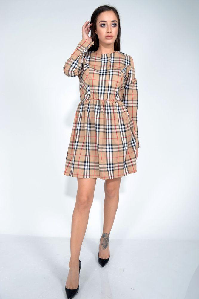 Платье 104R034 цвет Бежевый размер M-L