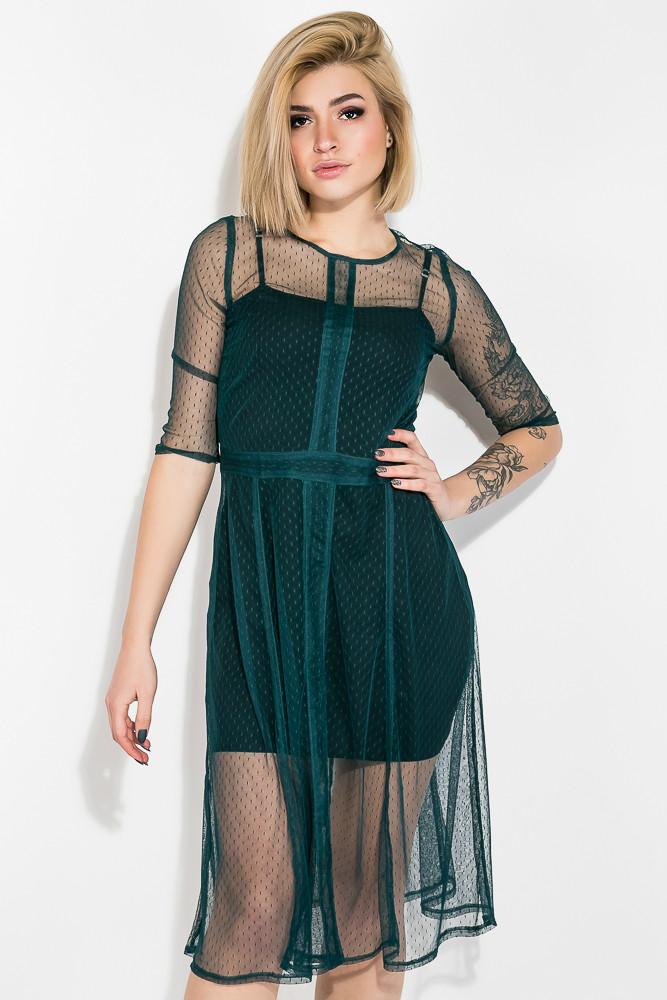 Платье женское цвет Бутылочный