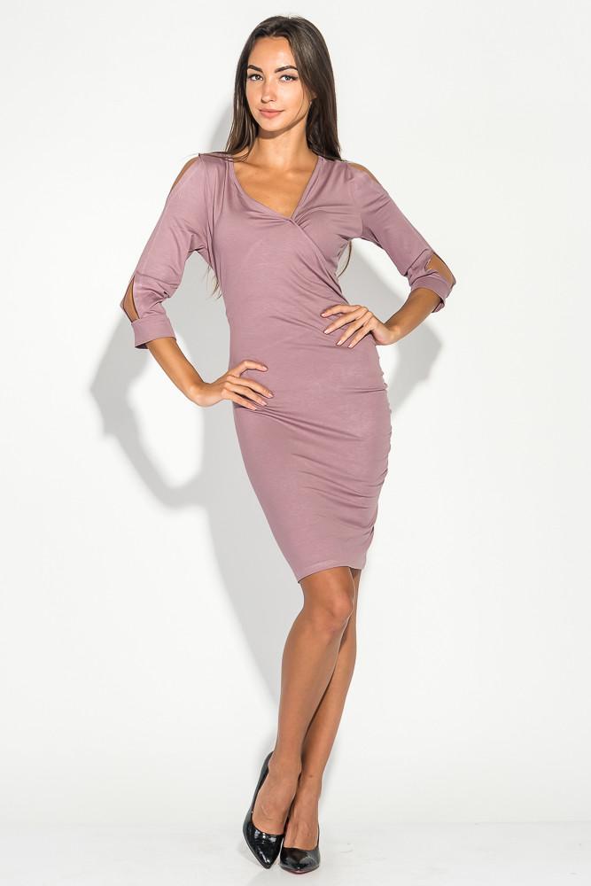 Платье женское облегающее цвет Лиловый размер M