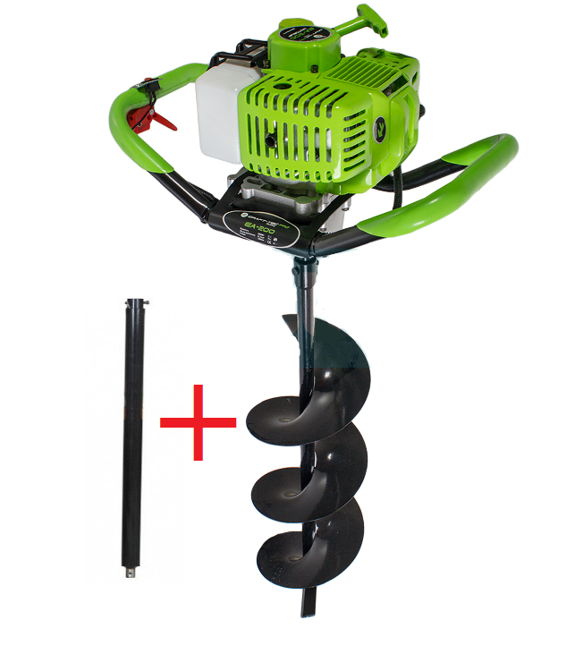 Мотобур Craft-tec PRO EA-200 (у комплекті 1 шнек 200мм + подовжувач 500мм). Бензобур Крафт-Тек