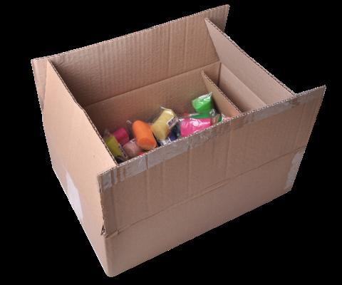 Повітряний пластилін в гофрокартоні (70 стіків по 6 г) 24 кольори