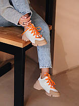 Женские кроссовки Dior D-Connect White/Orange Диор белые, фото 2