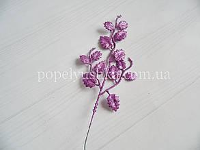 Гілка берези мала 26 см блискуча фіолетова
