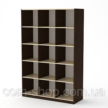 Шкаф книжный КШ-3 венге комби  (130х45х195 см)