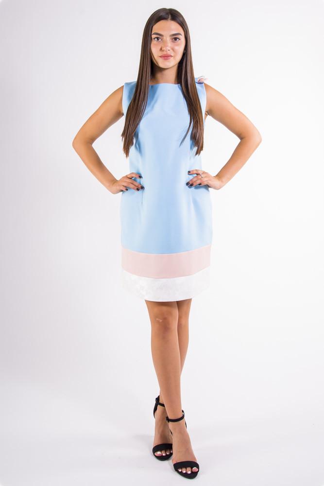 Платье  цвет Голубой размер L