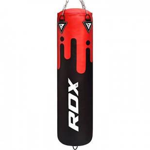Боксерський мішок RDX Leather Black/Red 1.5 м, 45-55 кг