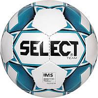 М'яч футбольний Select Team IMS, біло-синій, 5 р.