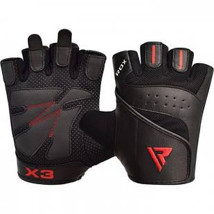 Рукавички для фітнесу RDX S2 Leather Black M