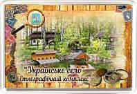 """Магніт акриловий """"Етнографічний комплекс """"Українське село"""" 50х75 мм"""