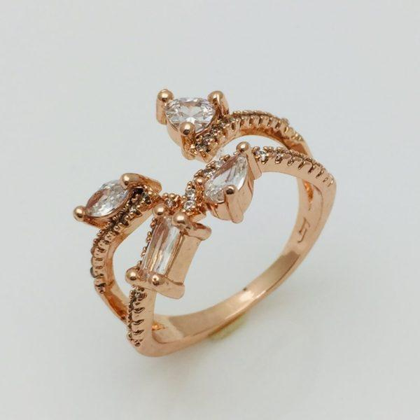 Перстень женский Крупные капли, размер 13, 14, 15, 16, 17, 18