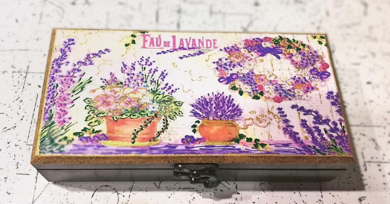 Шкатулка купюрница Лаванда  97 Ш