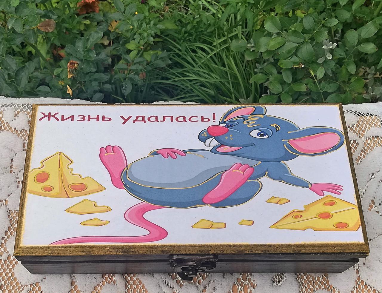 Шкатулка купюрница Мышка 98 Ш