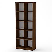 Шкаф книжный КШ-2 орех экко  (84х36х206 см)