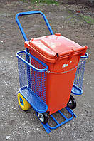 Тележка для уборки уличная под бак 120л, фото 1