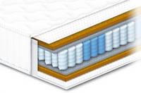 Матрас Сонлайн 7 зон Артур ортопедический двусторонний жесткий (независимые пружины Pocket Spring, латекс)
