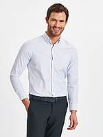 Белая мужская рубашка LC Waikiki / ЛС Вайкики в синюю полоску, фото 1
