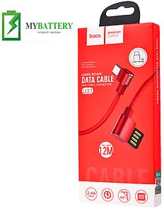 USB кабель Hoco U37 Long Roam iPhone (1200mm), красный