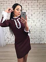 Платье короткое женское Анжелика /разные цвета, 42-46, ft-395/, фото 3