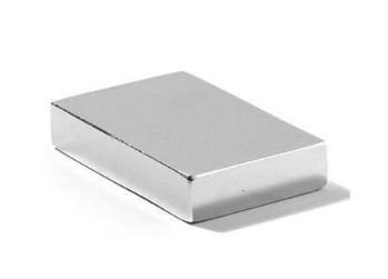 Прямоугольный неодимовый магнит40х30х15 мм, сила сцепления 46 кг, N42