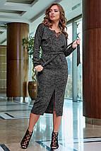 Женское ангоровое платье-миди на запах (3858-3859-3864-3876 svt), фото 3