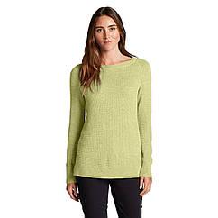 Пуловер Eddie Bauer Womens Lux Thermal Crewneck Sweater LIGHT YELLOW HTR XS Желтый 0303LYH-XS, КОД: 305909