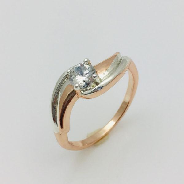 Кольцо женское Флайси , размер 16, 17, 18, 19, 20 позолота+ родий