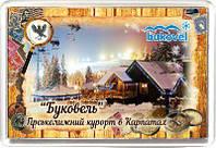 """Магніт акриловий """"Гірськолижний курорт """"Буковель"""" 50х75 мм"""
