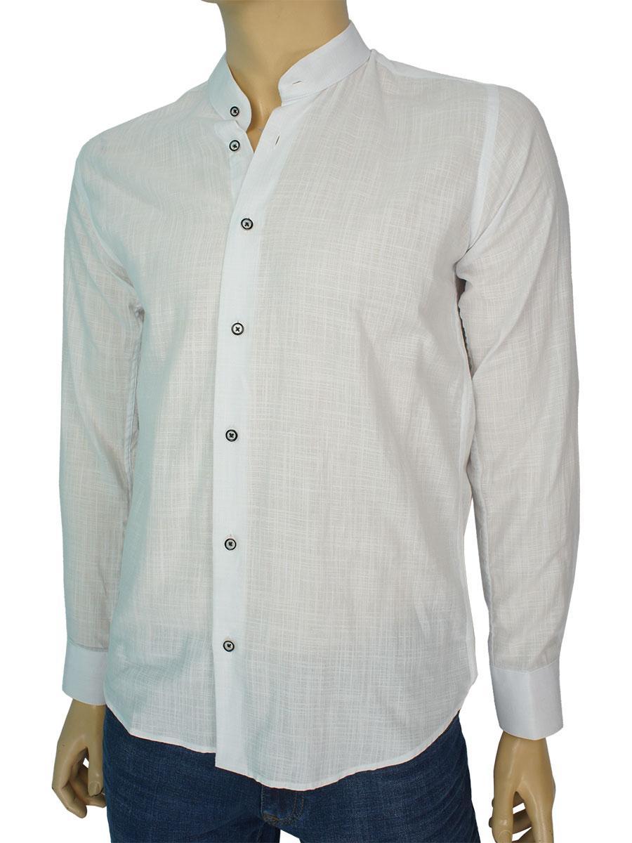 Льняная белая рубашка Negredo Art.9047 C:01