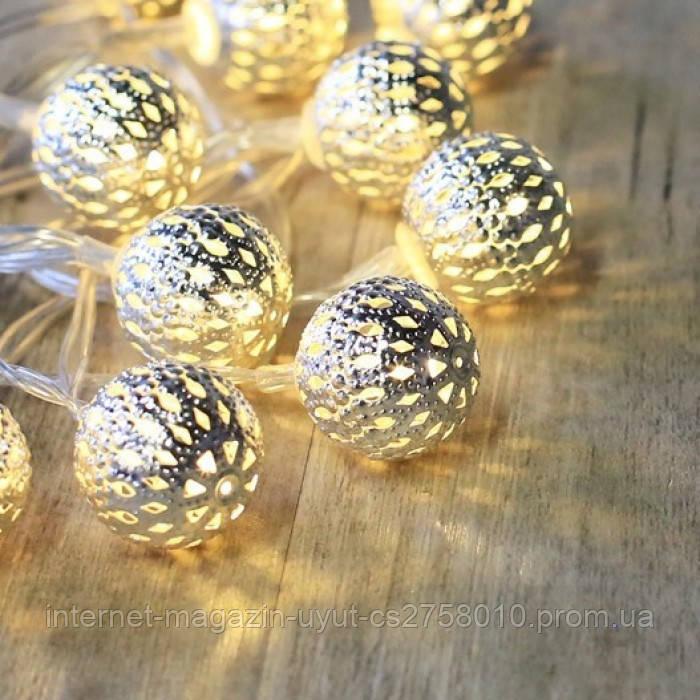 Светодиодная гирлянда нить-шарики LED 20