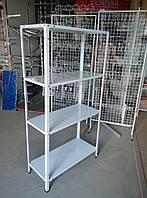 Стелаж складський металевий легкий висота 2400мм шириною 950мм глубина 400мм, фото 1