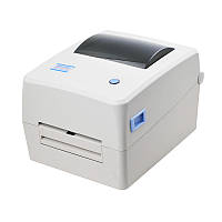 Принтер этикеток, термотрансферный принтер, принтер QR кодов Xprinter XP-TT424B USB 110mm