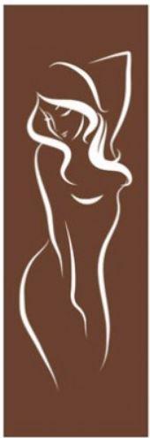 """Двери для сауны с рисунком """"Девушка"""" 70х190"""