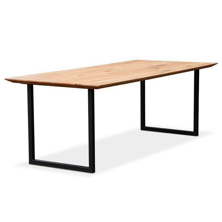 """Письменный стол из дерева """"Ю-стол"""" в стиле лофт со срезами по краям"""
