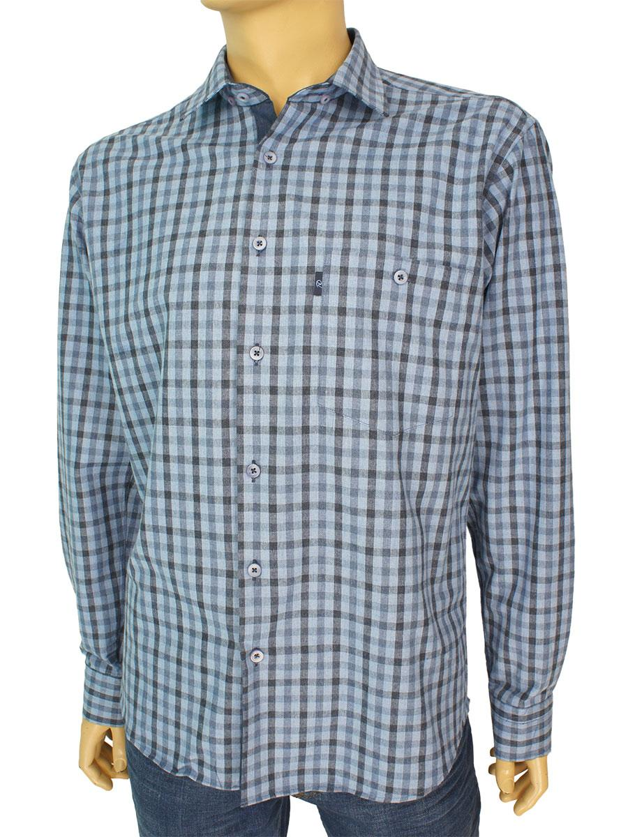 Хлопковая мужская рубашка Negredo 3000-H#203