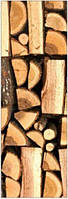 "Двери для сауны с рисунком ""Дрова"" 70х190"