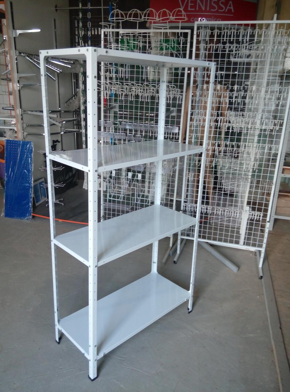 Стелаж 2400х1200х400 складський металевий легкий